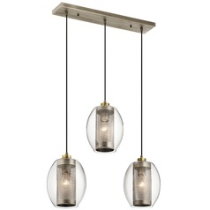 Transitional Multi-Light Pendant Pewter Asher by Kichler Lighting