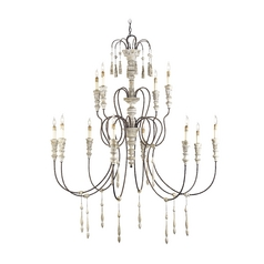 Chandelier in Stockholm White/rust Finish