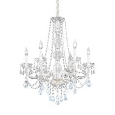 Six-Light Heritage Crystal Chandelier