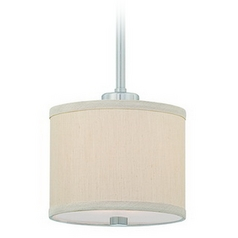 Mini-Pendant with Beige Fabric Shade