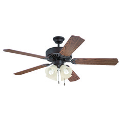 Craftmade Pro Builder 204 Aged Bronze Brushed Ceiling Fan with Light