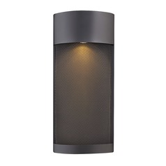 Black LED Outdoor Wall Light 17.25-Inch Tall by Hinkley Lighting