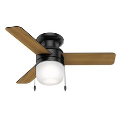 Hunter 42-Inch Matte Black LED Ceiling Fan with Light