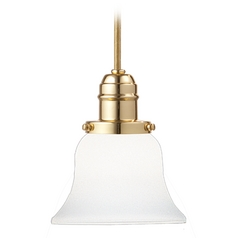 Hudson Valley Lighting Mini-Pendant Light with White Glass 3102-PB-341