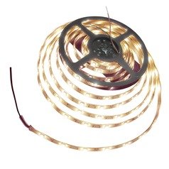 12-Volt 3000K LED Tape Light - 16.4 Feet Long - 150 Lumens Per Foot