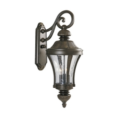 Water Seeded Glass Outdoor Wall Light Bronze Progress Lighting