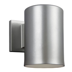 Sea Gull Lighting Outdoor Bullets Painted Brushed Nickel LED Outdoor Wall Light