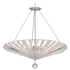 Quoizel Platinum Collection Superior Polished Chrome Pendant Light with Conical Shade