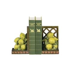 Decorative Lemon Fruit Bookends