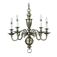 Hinkley 5-Light Chandelier in Pewter