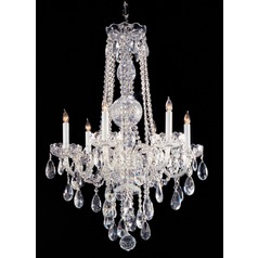 Crystorama Lighting Traditional Crystal Polished Chrome Chandelier