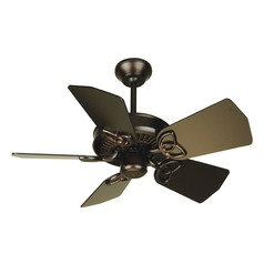 Craftmade Lighting Piccolo Oiled Bronze Ceiling Fan Without Light