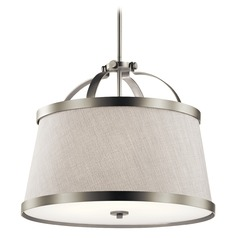 Transitional Pendant Light Brushed Nickel Amarena by Kichler Lighting