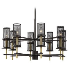 Feiss Lighting Palmyra Oiled Rubbed Bronze / Burnished Brass Chandelier