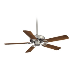 54-Inch Ceiling Fan Without Light in Brushed Nickel Finish
