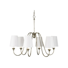Currey and Company Orion Silver Leaf 6-Light Chandelier