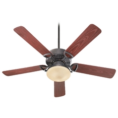 Quorum Lighting Estate Patio Toasted Sienna Ceiling Fan with Light