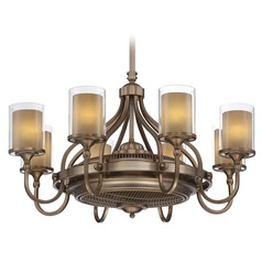 Savoy House Burnished Russett Chandelier Ceiling Fan
