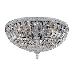 Lemire 5 Light Flush Mount w/ Antique Gold