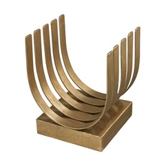 Olympia Gold Leaf Log Holder