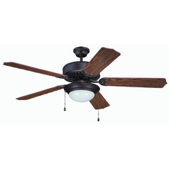 Craftmade Pro Builder 209 Aged Bronze Brushed Ceiling Fan with Light