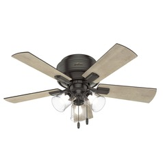 Hunter 42-Inch Noble Bronze LED Ceiling Fan with Light