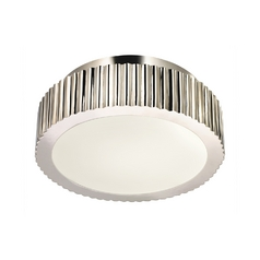 Modern Flushmount Light in Polished Nickel Finish