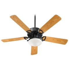 Quorum Lighting Estate Patio Matte Black Ceiling Fan with Light