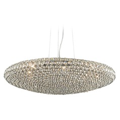 Plc Lighting Alexa Polished Chrome Pendant Light with Bowl / Dome Shade