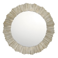 Capital Lighting Gilded Silver Round Mirror 29.5x29.5