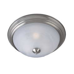 Maxim Lighting Close To Ceiling Light with White Glass in Satin Nickel Finish 1940MRSN
