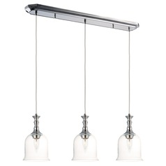 Maxim Lighting Centennial Polished Nickel Multi-Light Pendant with Bell Shade