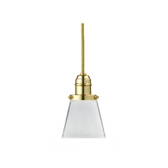 Hudson Valley Lighting Mini-Pendant Light with White Glass 3102-PB-436
