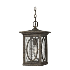 Outdoor Hanging Light with Clear Glass in Autumn Finish