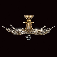 Fine Art Lamps Crystal Laurel Gold Leaf Semi-Flushmount Light