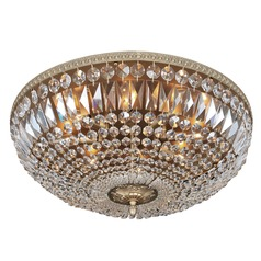 Lemire 8 Light Flush Mount w/ Antique Gold