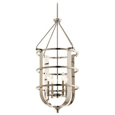 Traditional Pendant Light Polished Nickel Chatham by Kichler Lighting