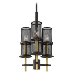 Feiss Lighting Palmyra Oiled Rubbed Bronze / Burnished Brass Mini-Chandelier