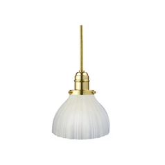 Hudson Valley Lighting Mini-Pendant Light with White Glass 3102-PB-444