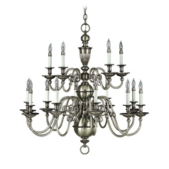Chandelier in Pewter Finish