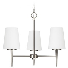 Modern Mini-Chandelier Brushed Nickel Driscoll by Sea Gull Lighting