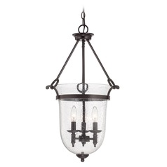 Savoy House English Bronze Pendant Light with Bell Shade