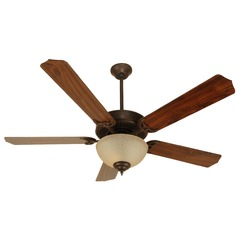 Craftmade Pro Builder 202 Aged Bronze Textured Ceiling Fan with Light