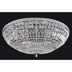 Lemire 12 Light Flush Mount w/ Chrome