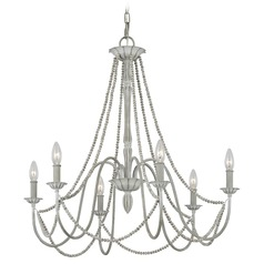 Feiss Lighting Maryville Weathered Washed Grey Chandelier