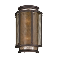 Outdoor Wall Light with Grey Mica Shades in Centennial Rust Finish