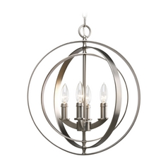 Progress Lighting Progress Pendant Light in Burnished Silver Finish P3827-126