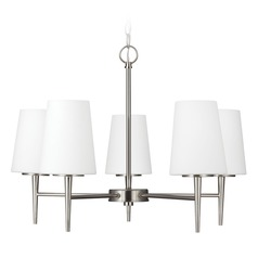 Modern Chandelier Brushed Nickel Driscoll by Sea Gull Lighting