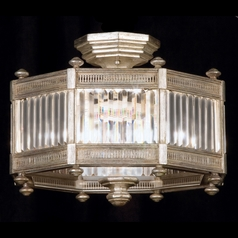 Fine Art Lamps Eaton Place Silver Leaf Semi-Flushmount Light