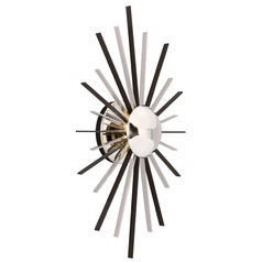 Troy Lighting Atomic Polished Nickel with Matte Black LED Sconce